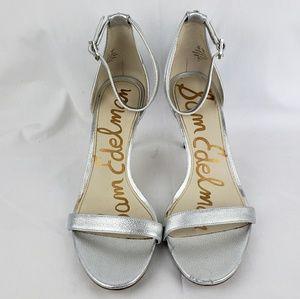 Sam Edelman silver heels size 10
